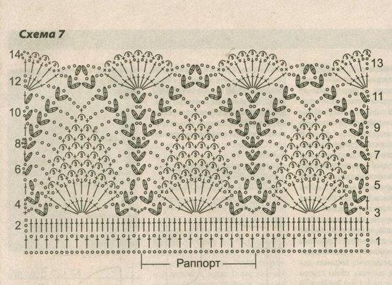 Вязание крючком узор ананасы 59
