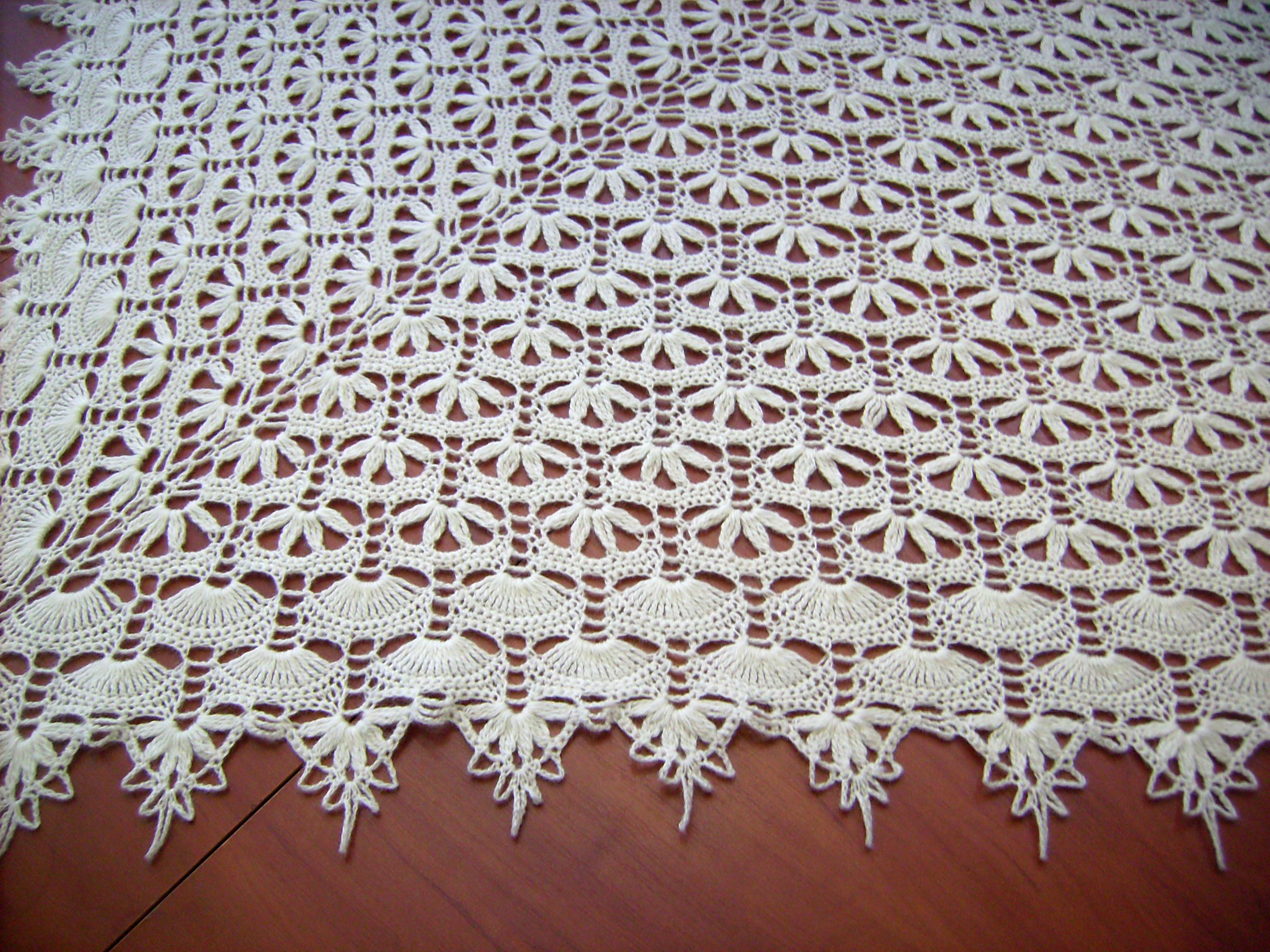 схема вышивки шали