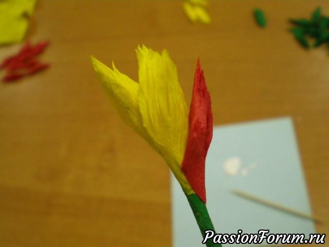 Цветок торцеванием