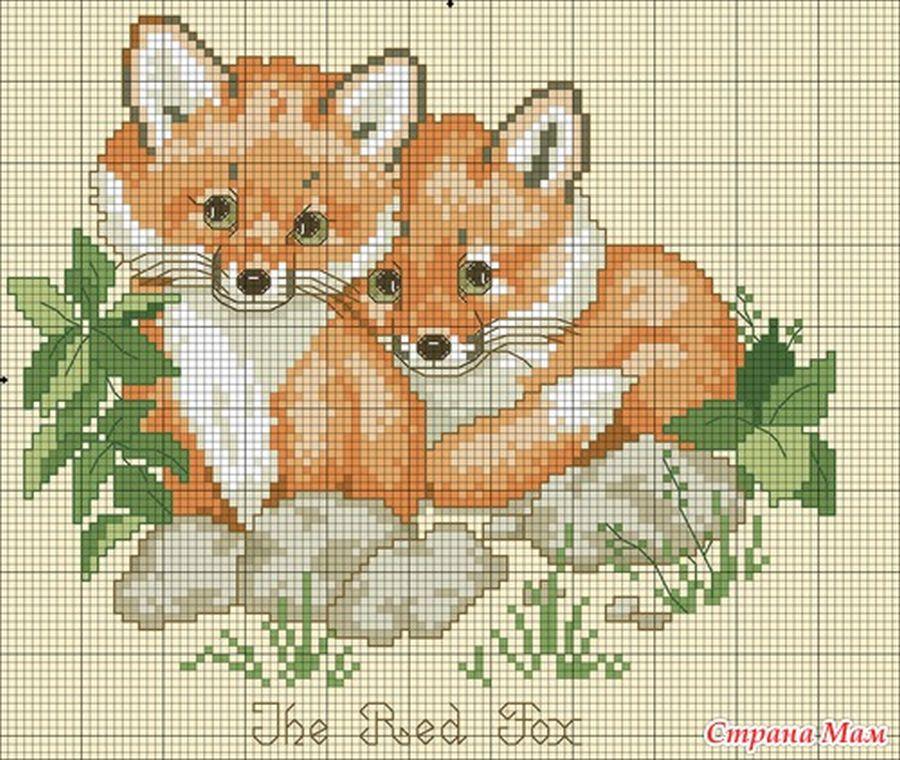 Схемы вышивки крестиком бесплатно животные