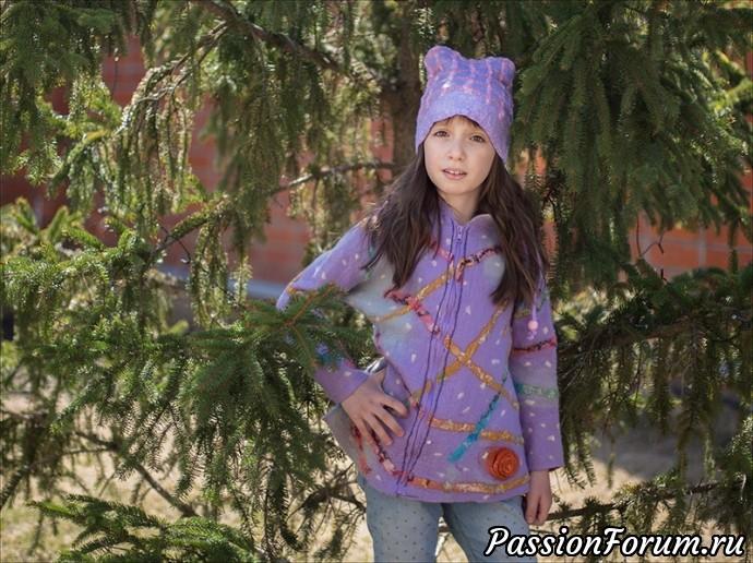 Курточка для внучки и шапочка к шарфику