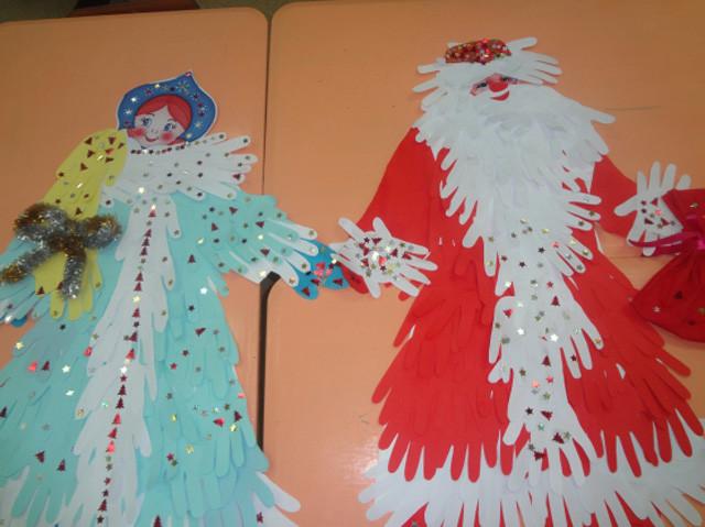 Дед мороз из детских ладошек своими руками