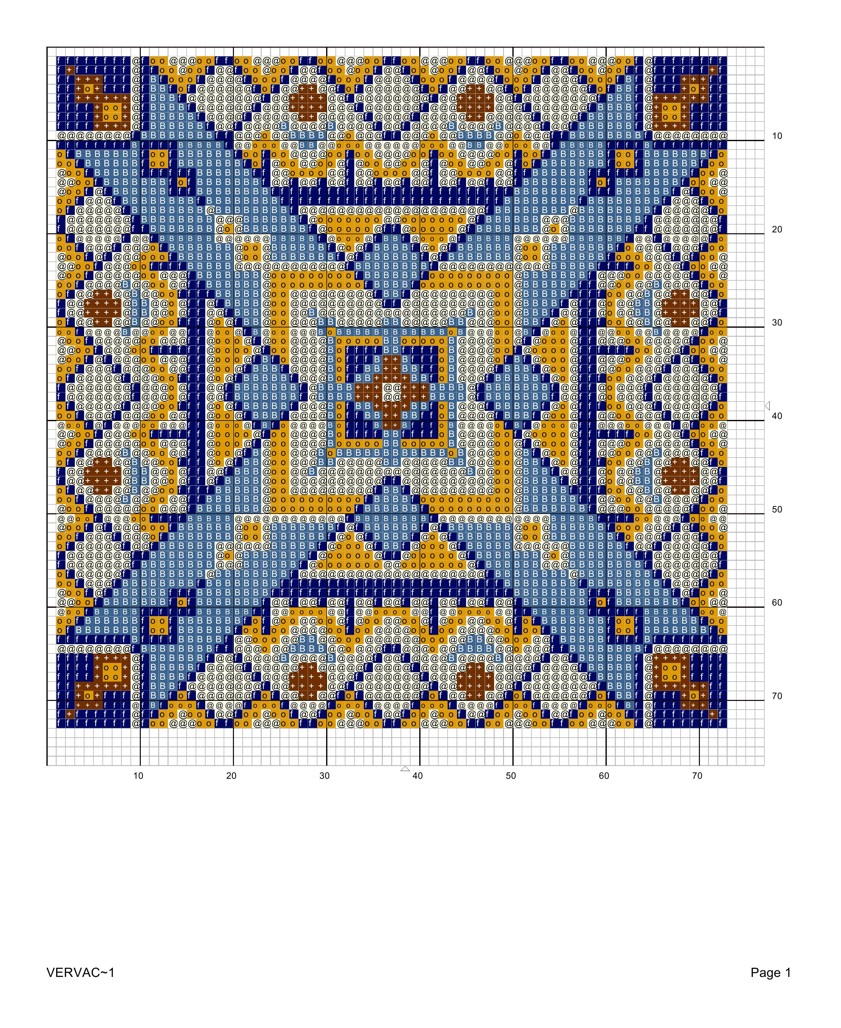 Схема для подушки крестиком