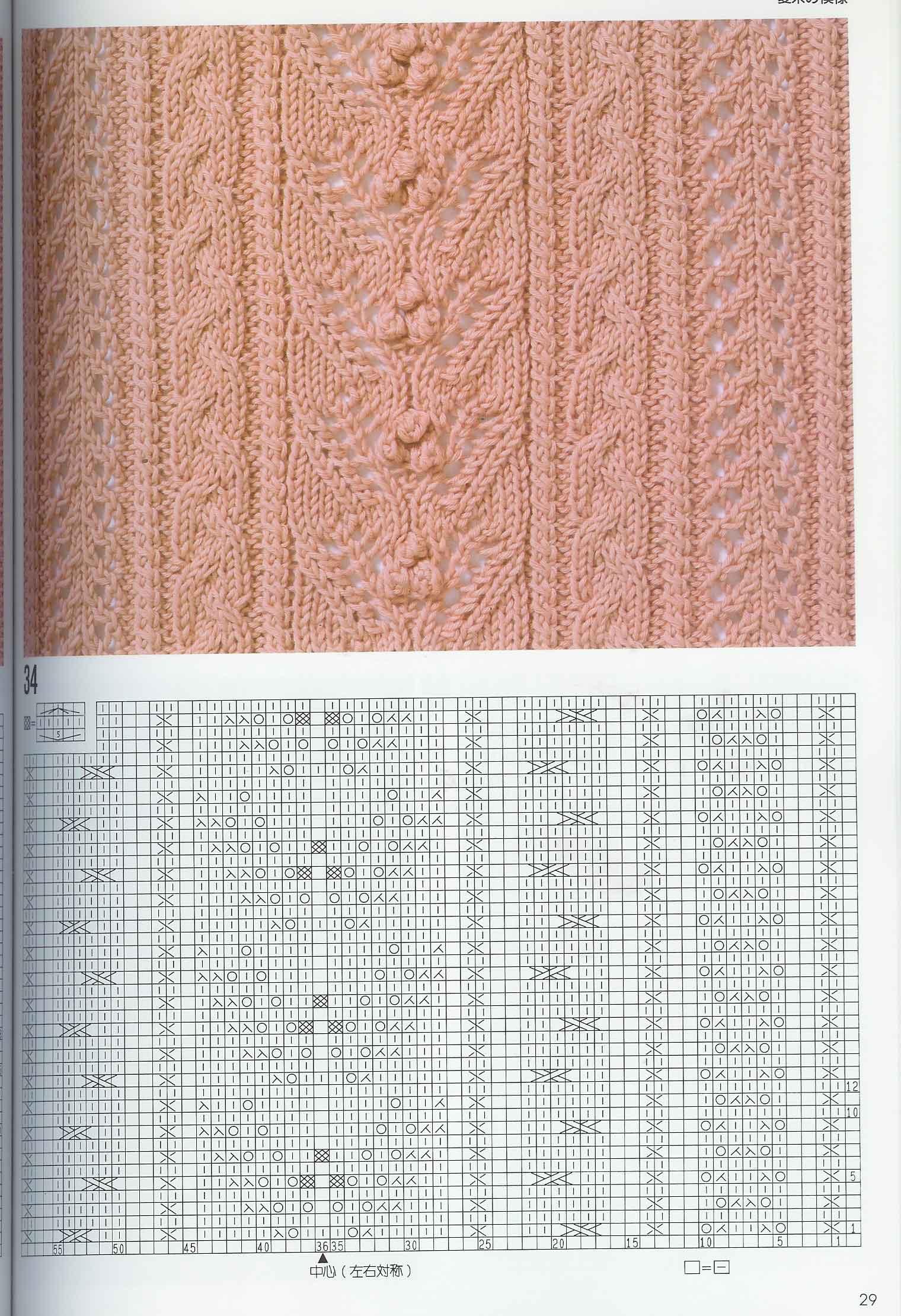 Араны спицами со схемами фото