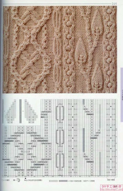 Вязание примеры узоров вязание спицами