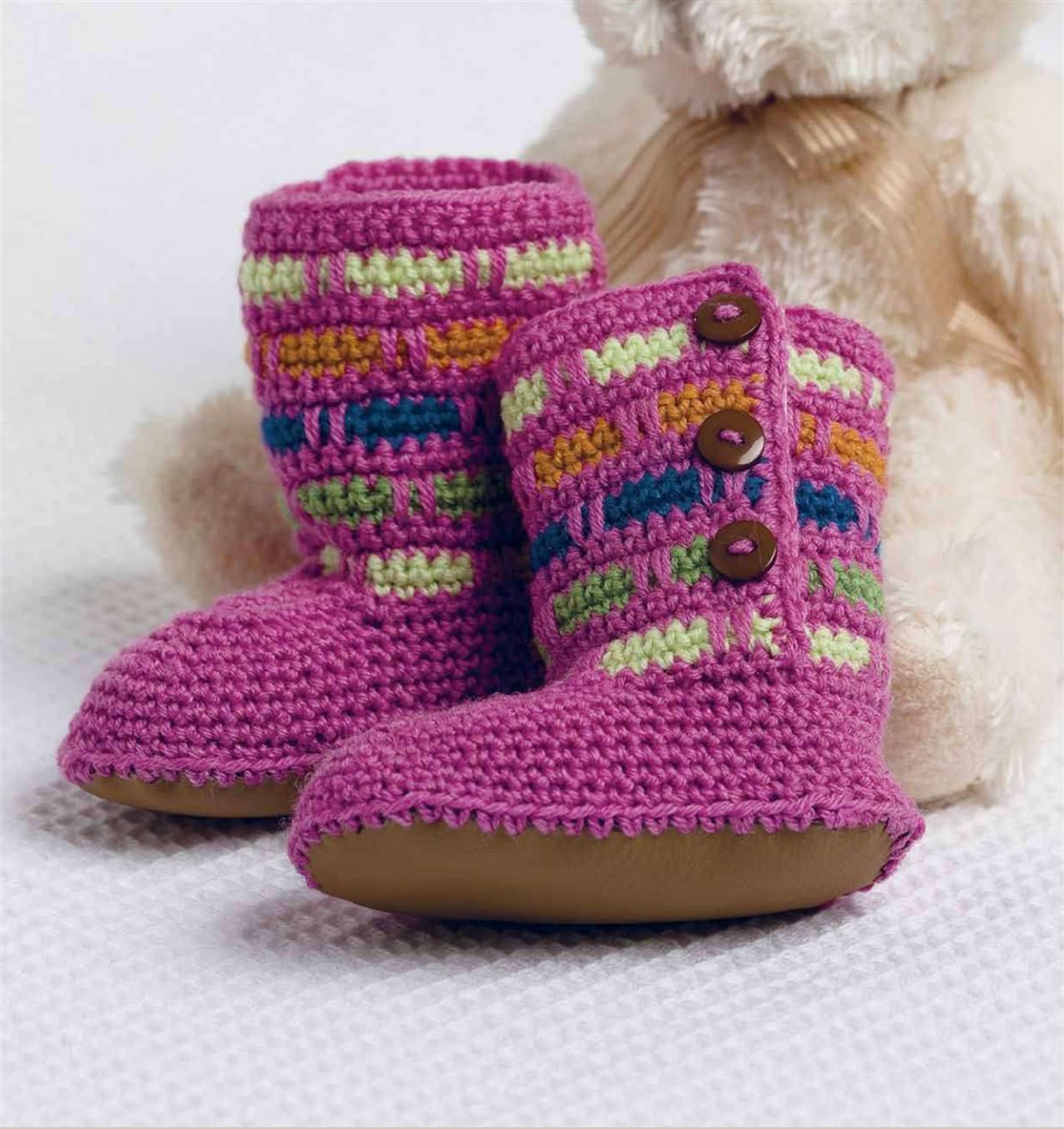 Вязание крючком детская обувь
