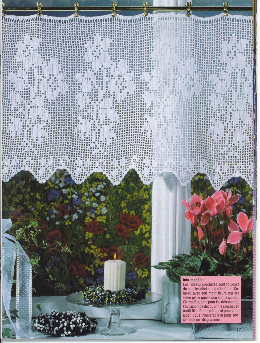 Crochet curtains 2