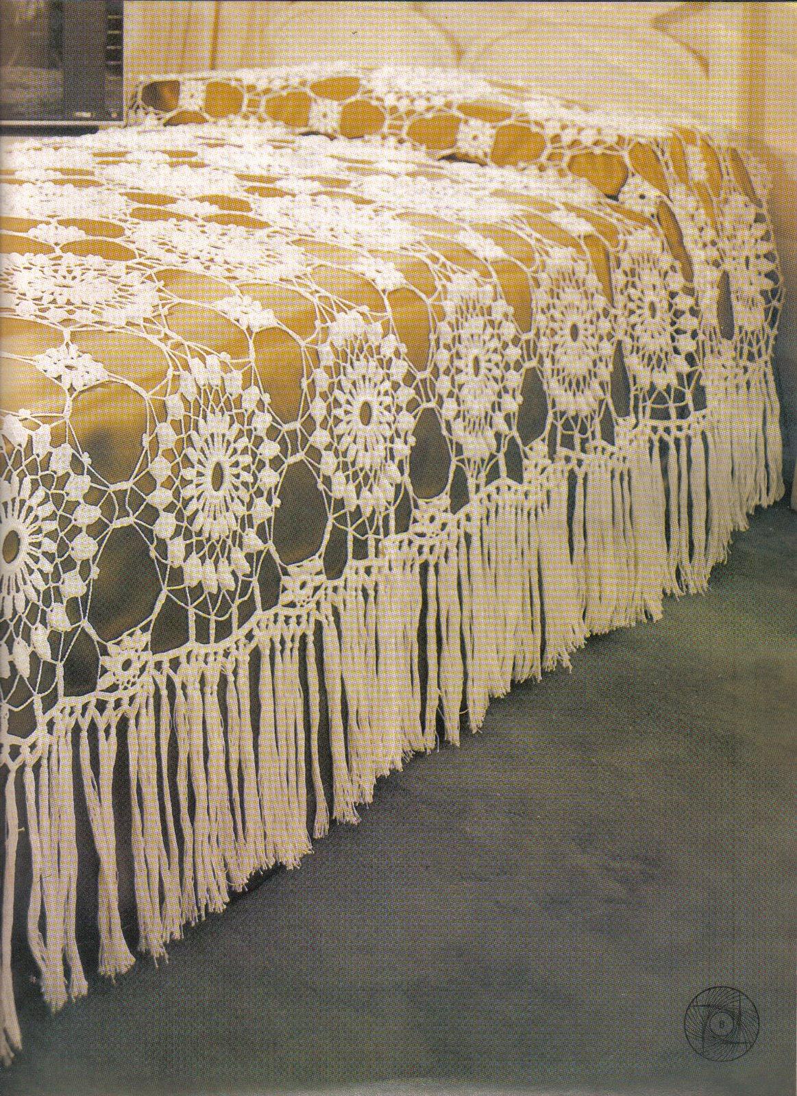 Вязание ажурного покрывала крючок