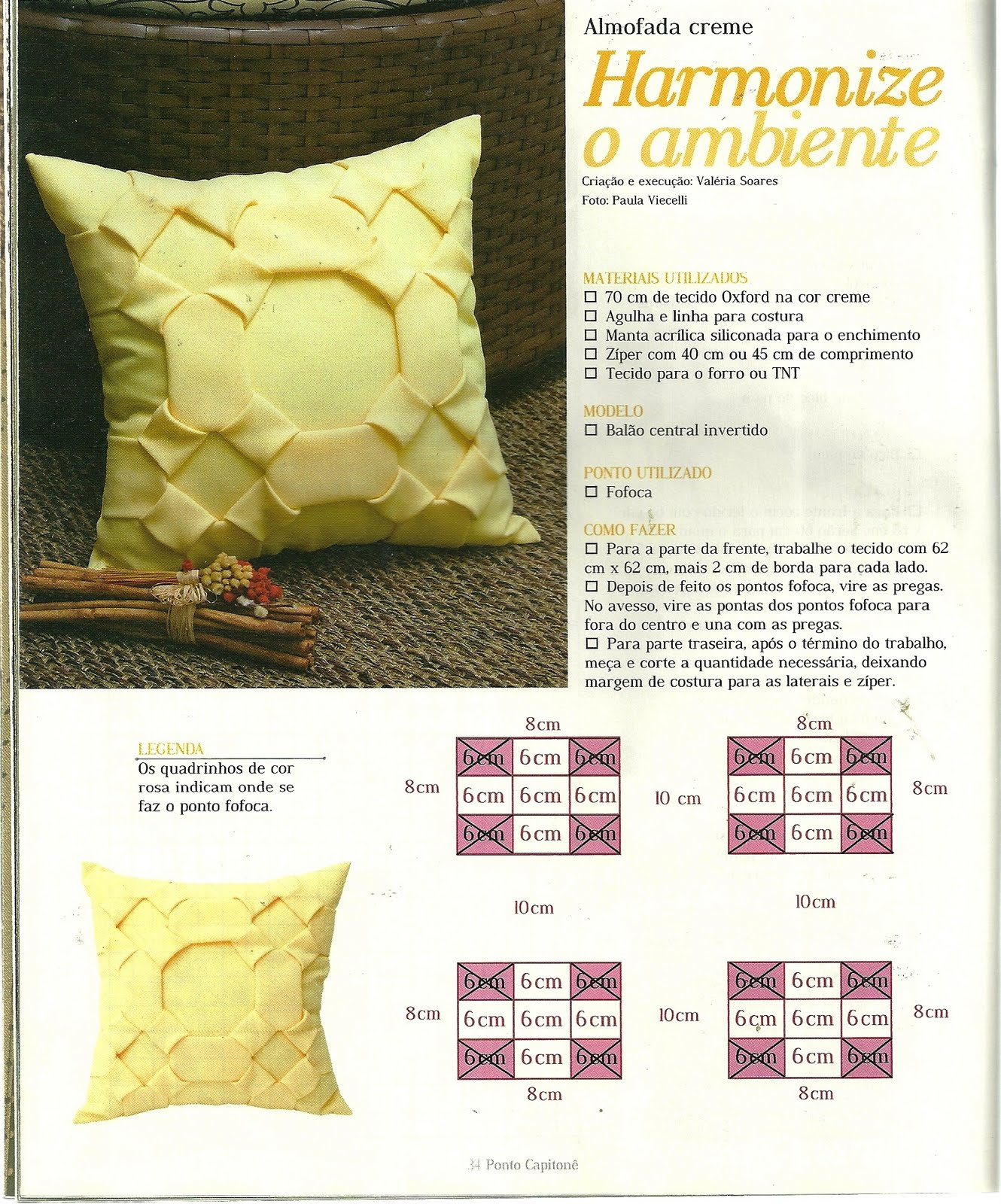 Декоративные подушки своими руками по схемам