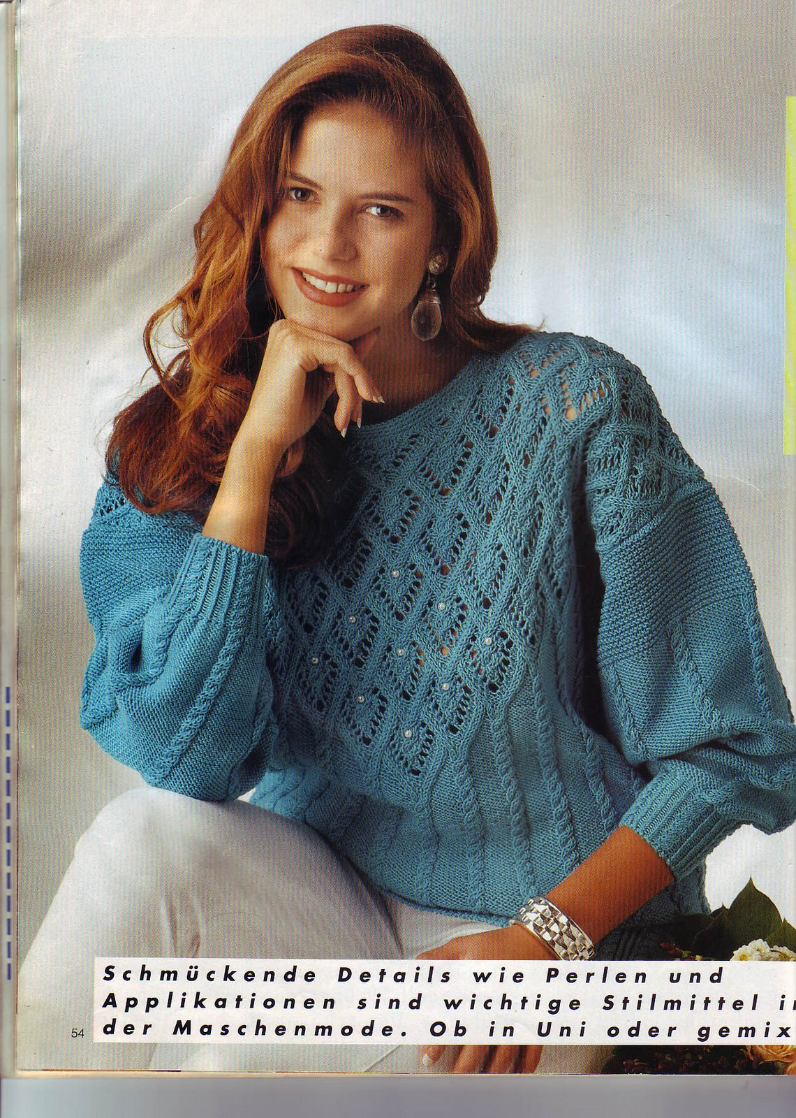Пуловер С Ажурными Вставками С Доставкой