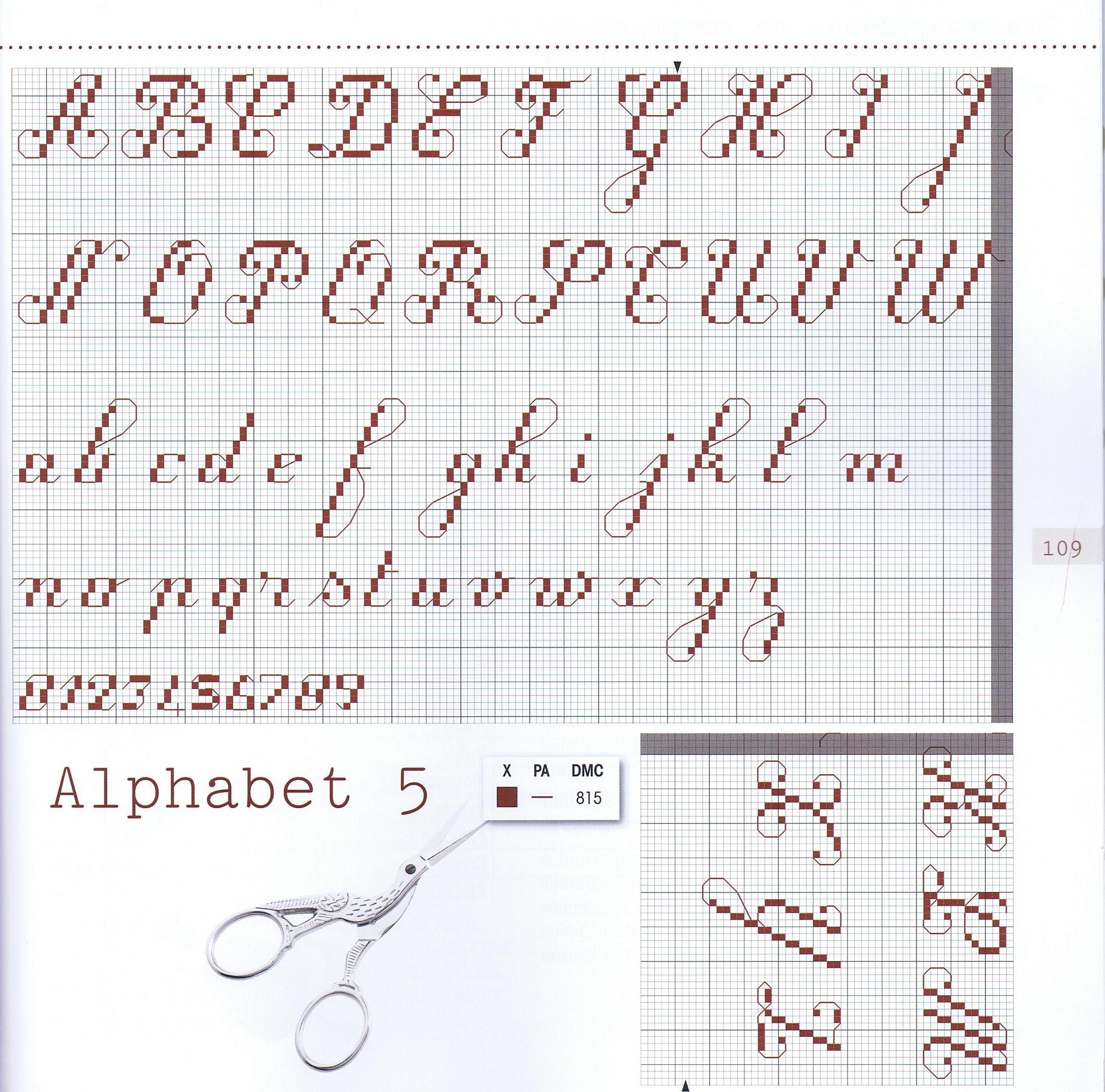Вышиваем крестиком красивые буквы и цифры русский алфавит 71