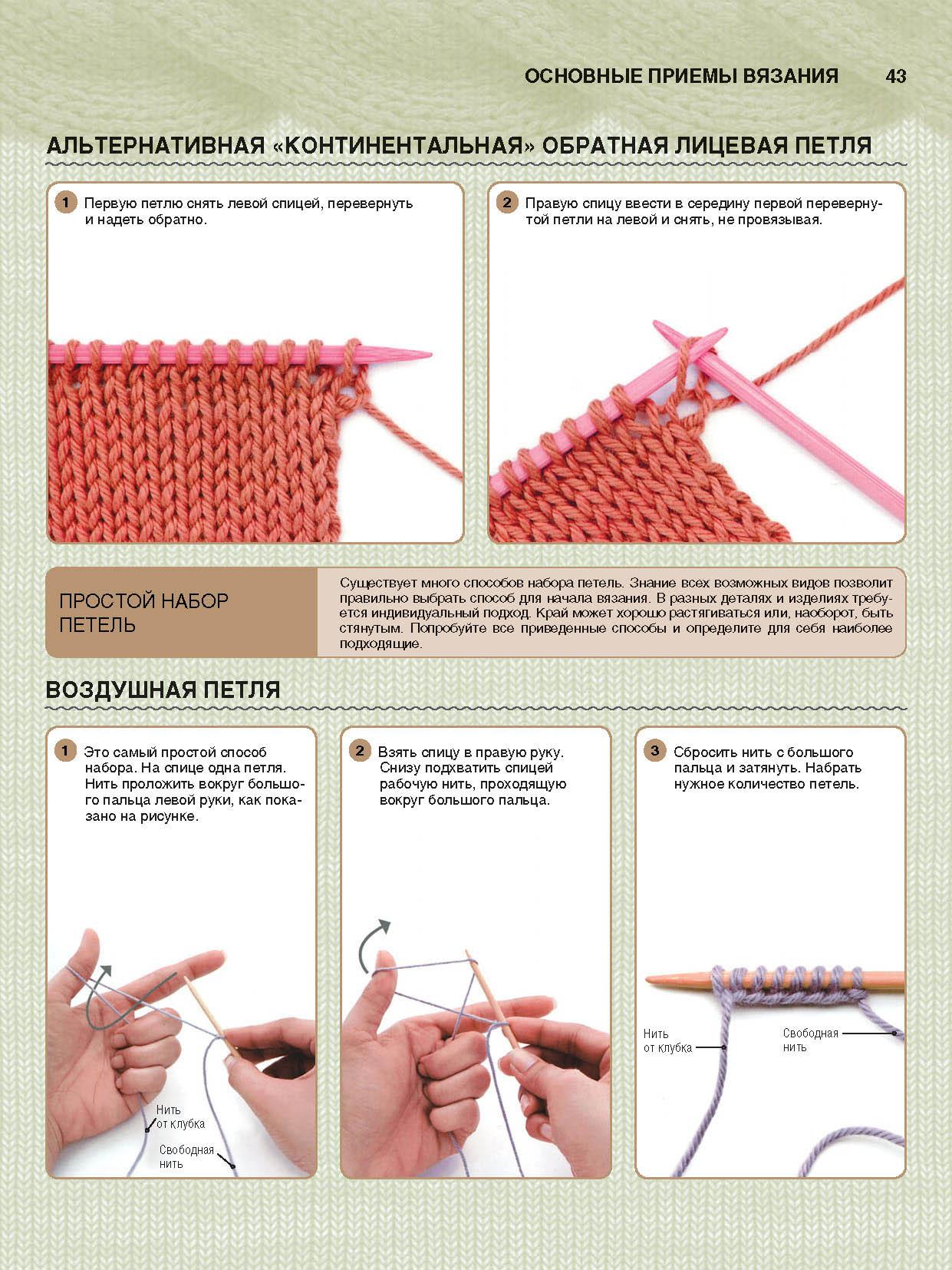 Простой способ вязания спицами 925