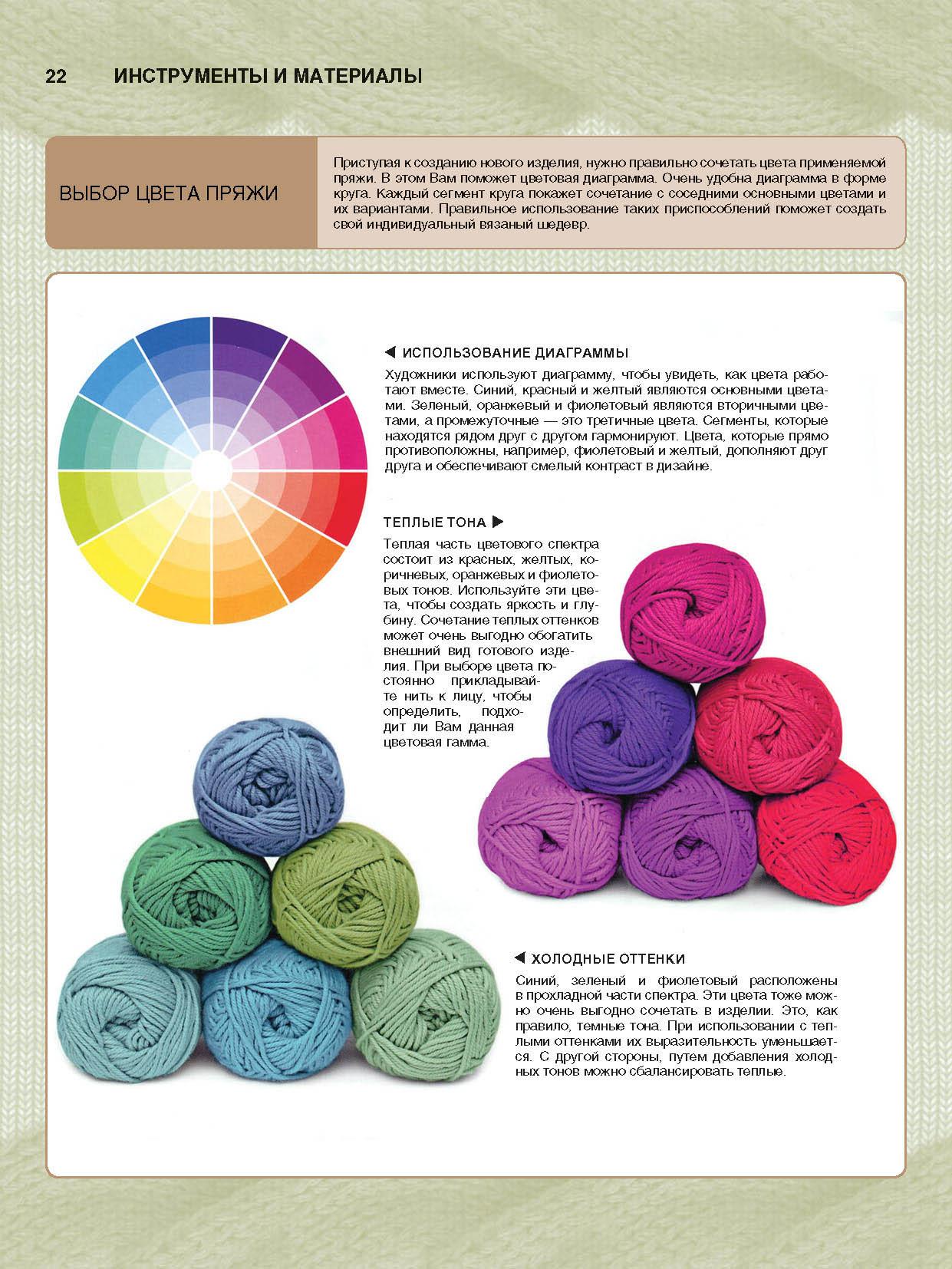 Сочетание цветов в вязании схема