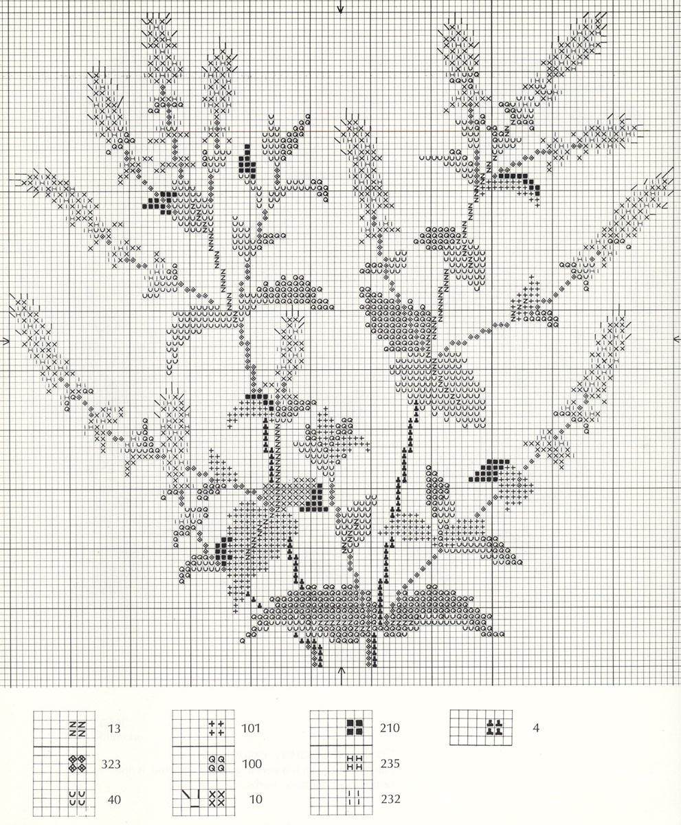 Вышивка схема шалфей 53