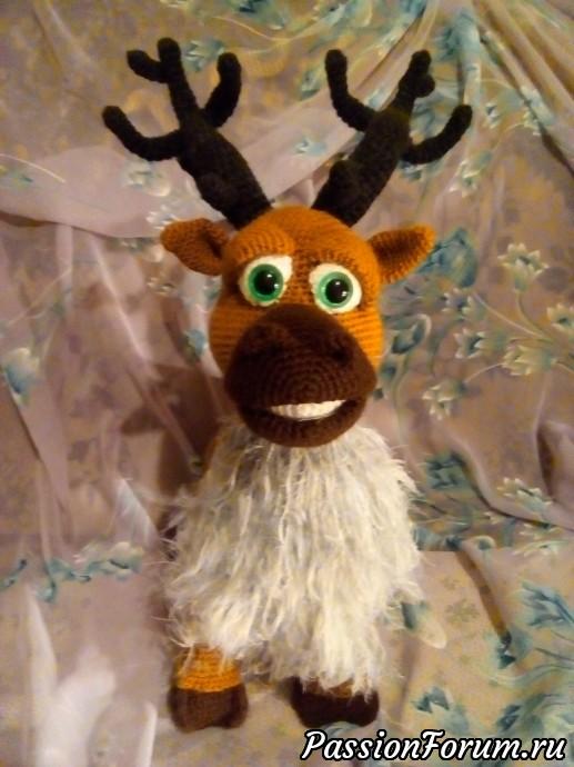 Рождественский олень по МК Dinegurumi, идеи подарков, рождество, вязание крючком, вязаный олень