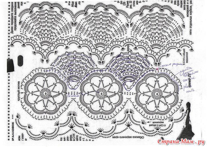 Болеро веерами крючком схемы