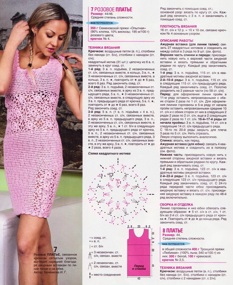Схема вязания платья летнего 12