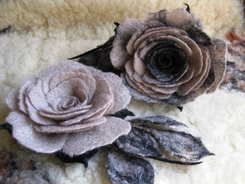 Роза из шерсти мастер класс
