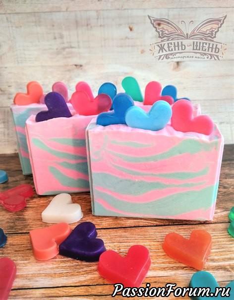 Скоро День Влюбленных!, мыло натуральное, мыло ручной работы с нуля, мыло ручной работы, мыловар, мыловарение, подарки и не только