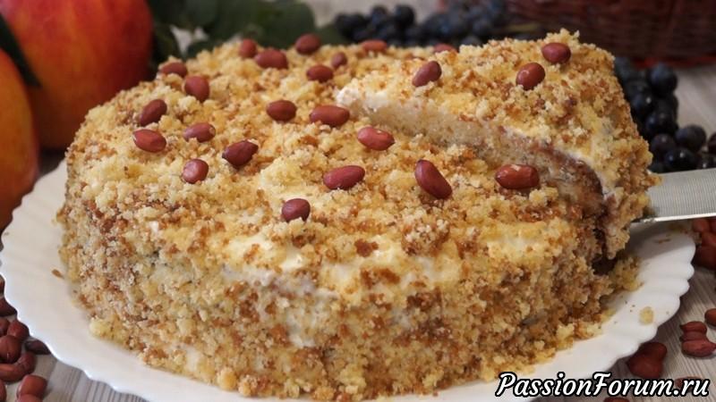 Очень вкусный торт из коржей