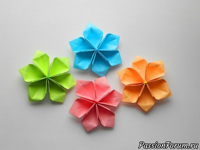 Оригами бумажные цветы