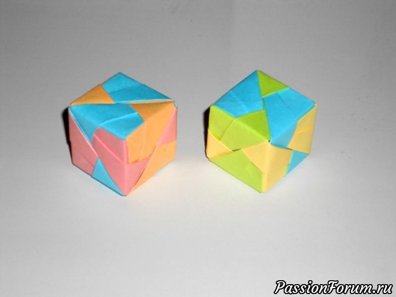 Кубики из бумаги с