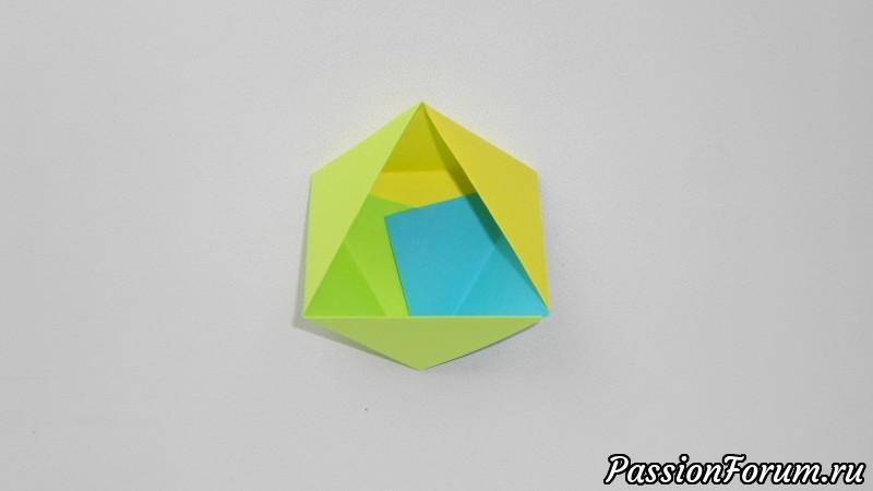 Коробочка из бумаги оригами Очень простая поделка, оригами, из бумаги
