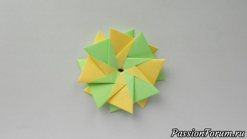 Цветок из бумаги Оригами поделка для детей, цветок, из бумаги, оригами