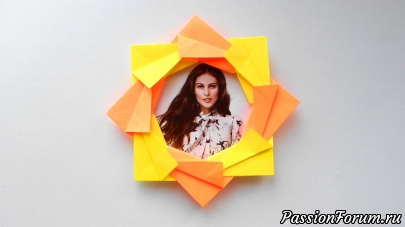 Оригами фоторамка из бумаги, оригами, фоторамка, из бумаги