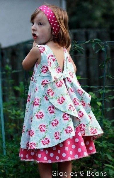 Платья с бабочками девочкам