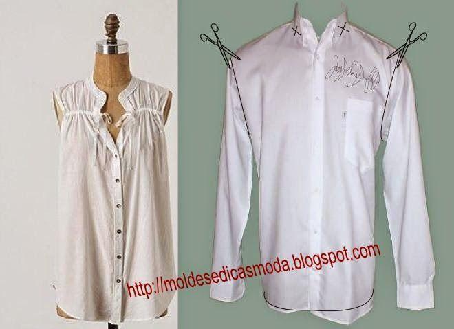 Переделки из мужских рубашек и трикотажных футболок