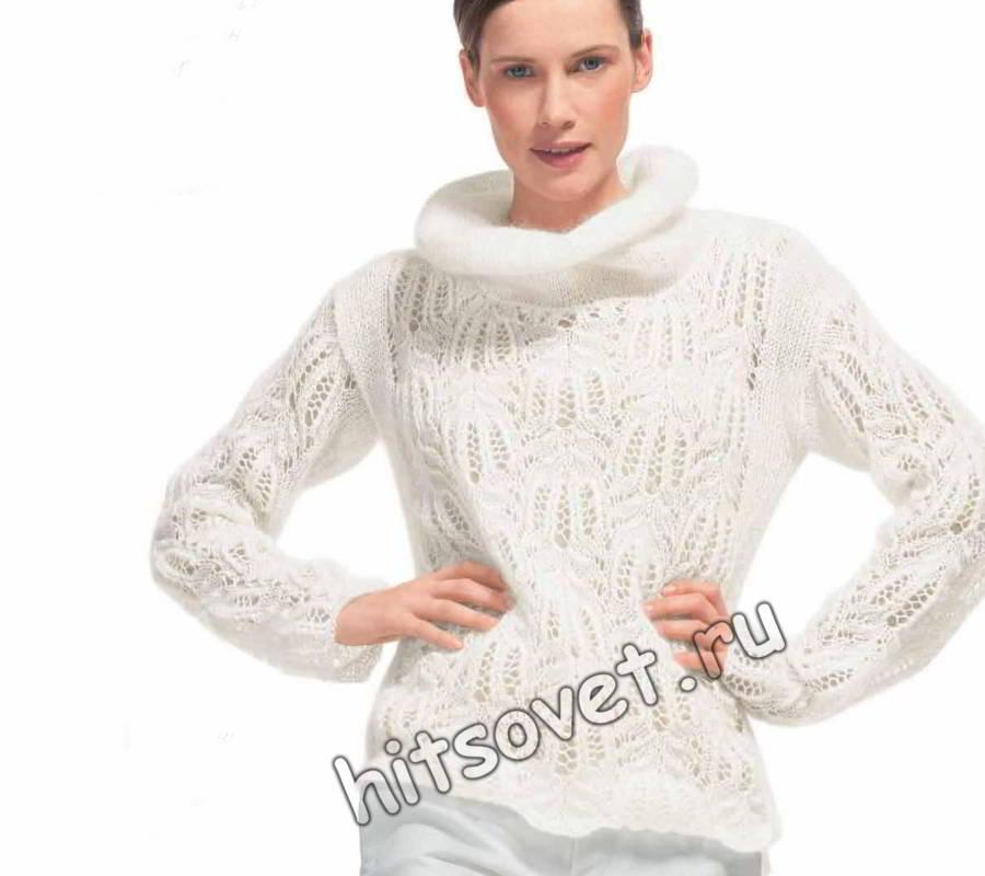 свитера связанные из тонкой пряжи