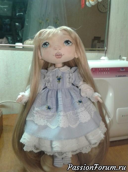 Текстильная куколка, рост 32 см, пока без туфелек
