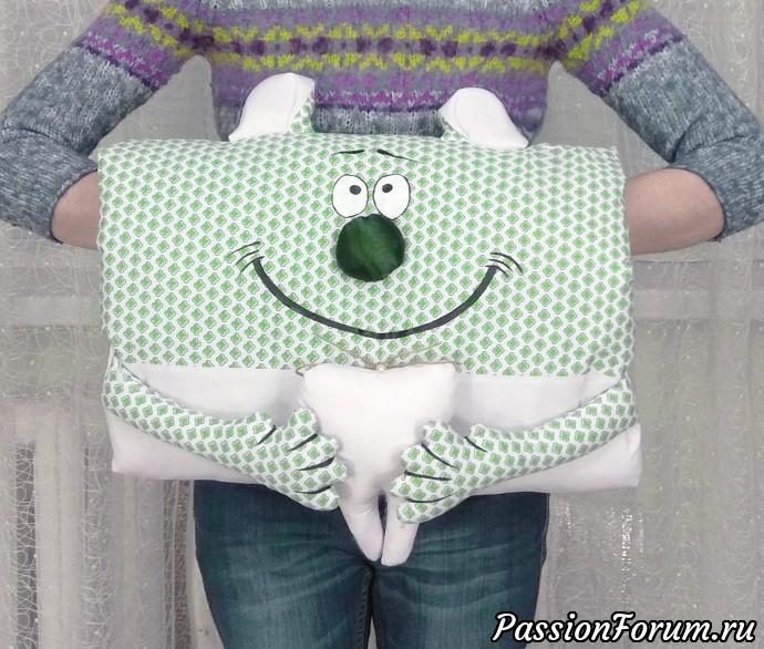 Игрушка- муфта для детского стоматолога ), муфта, игрушка, мягкая игрушка, текстиль, подарок, купить подарок, подушка, подушка-игрушка, рукоделие, зеленый