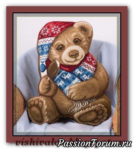 """Подушка """"Медвежонок"""". Схема, медвежонок, подушечка, схема"""