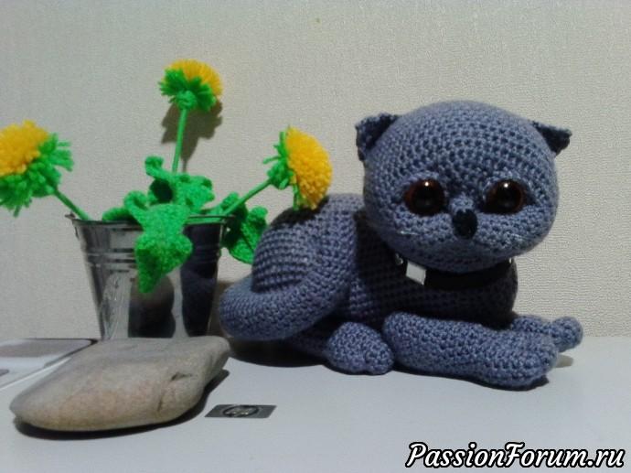 Вислоухий котик., кот вязанный, кот крючком, игрушка крючком, вязание крючком, котик, котенок, игрушка, кот