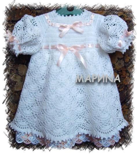 Мастер класс по вязанию нарядного платья для девочки