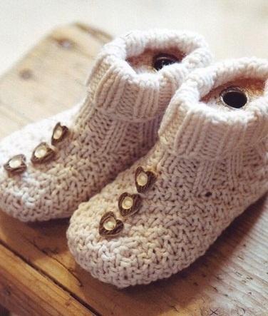 Детские ботиночки спицами