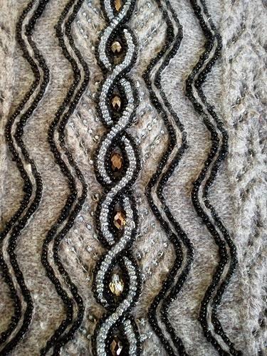 针织:穿珠的灰色上衣 - maomao - 我随心动
