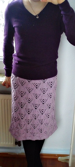 Ажурная вязанная юбка.