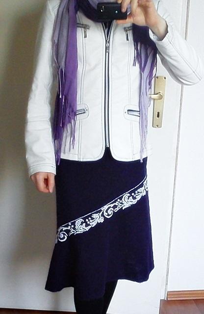 Фиолетовая юбка, вышитая бисером...