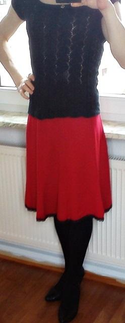Как удлинить красиво юбку...