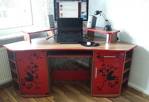 Декупаж компьютерного стола