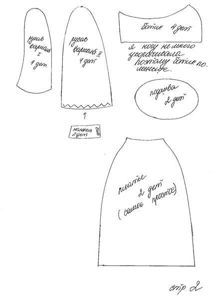 Платья для кукол большеножек выкройки