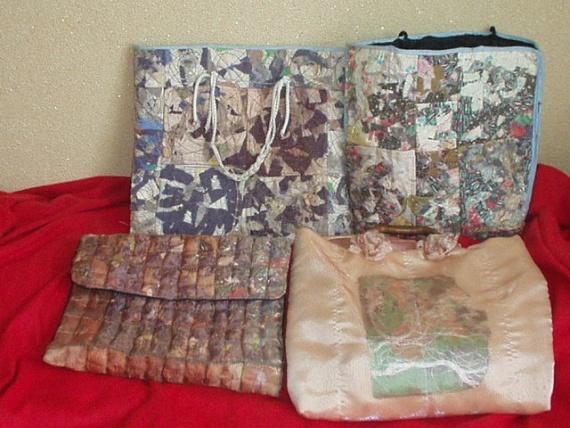 сумки и коврики из остатков ткани