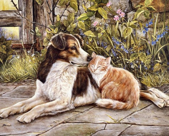 Картинки милые животные декупаж