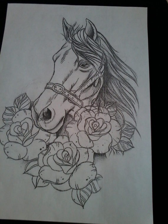 Конь победитель - очередная работа