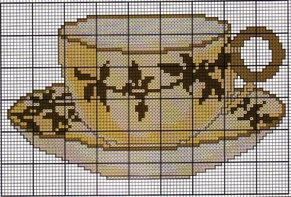 Схемы вышивки крестиком.