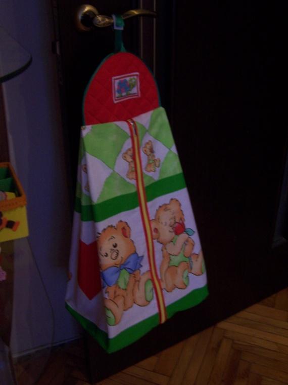 Кармашки и сумка для детской кроватки