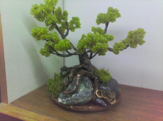 Деревья из бисера-